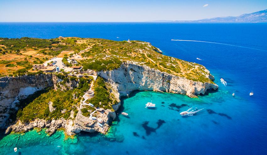Zakynthos (Zante) island, in Greece