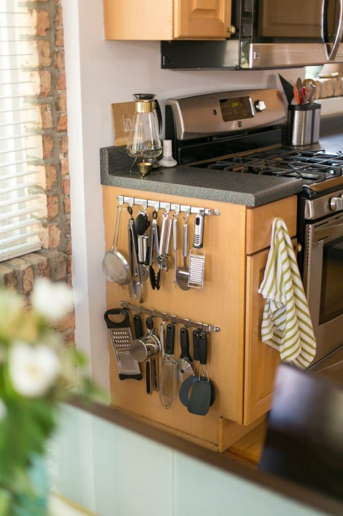 kitchen countertop organization