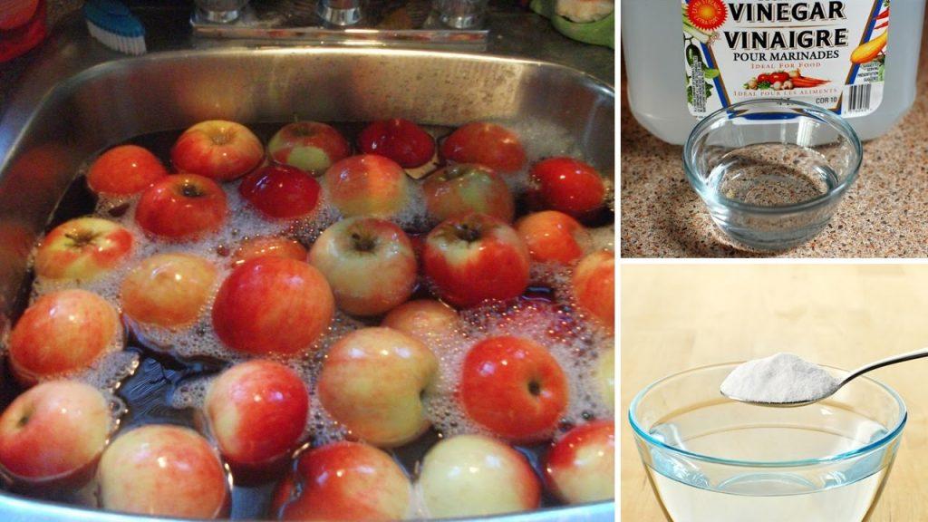 apple pesticides removing