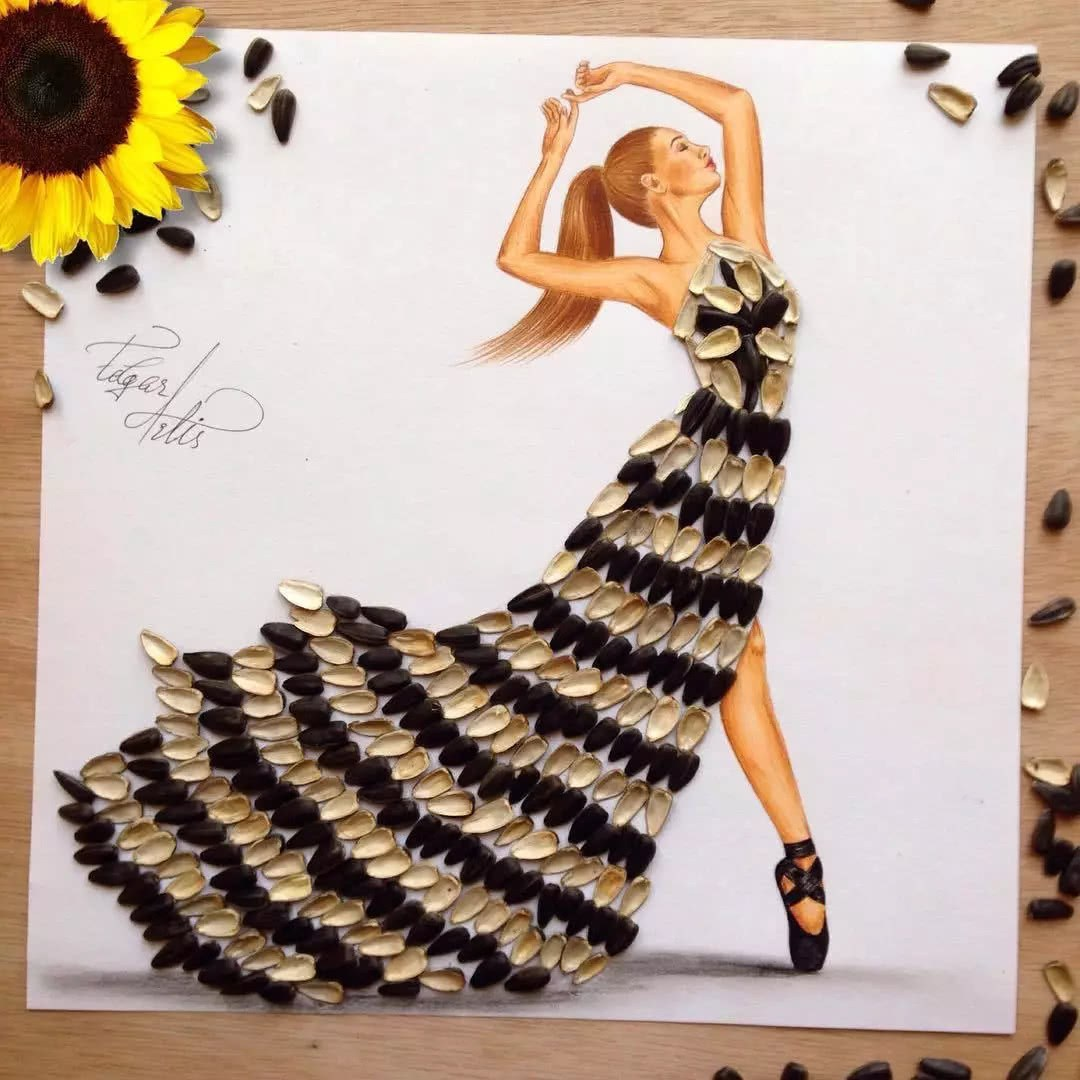7d8f995fa3b Edgar Artis is the fashion designer whose idea was to create a food dresses.  His creative idea is on the top list of the most creative fashion designer  ...