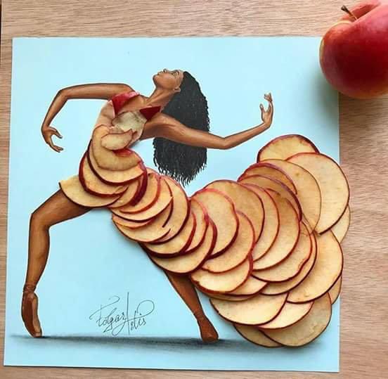 apple food dresses