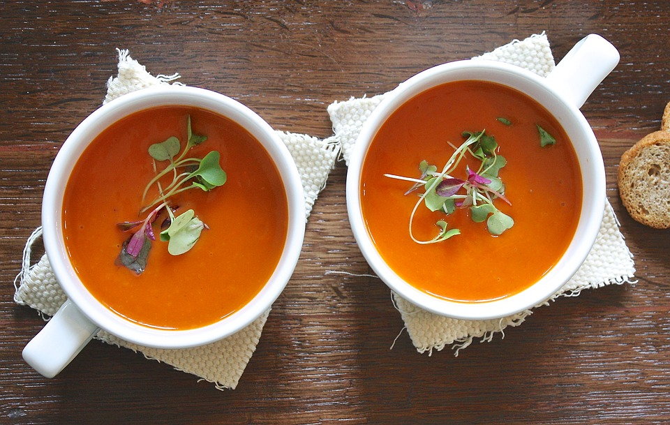 stems in soup