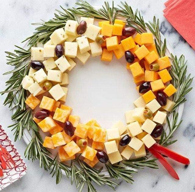 wreath of food