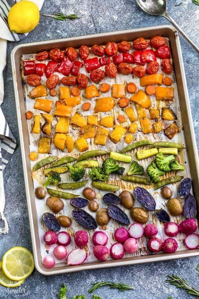 rainbow with veggies