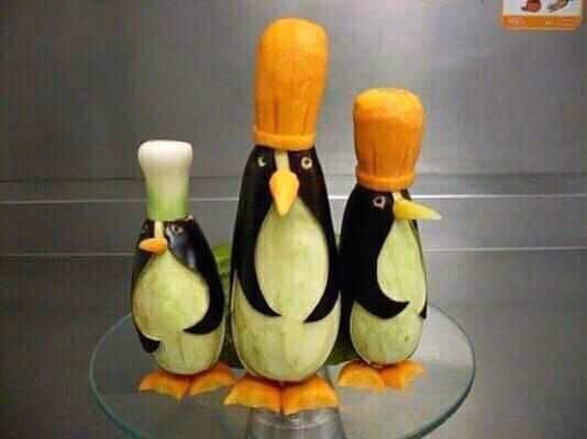 pinguins from aubergine