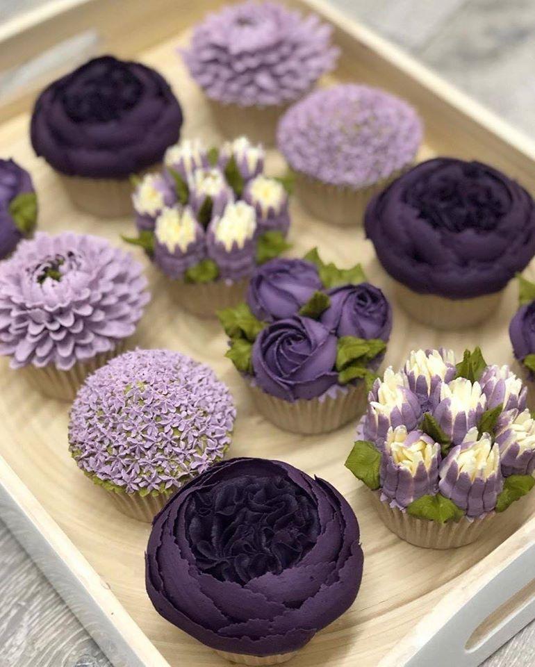 purple muffins
