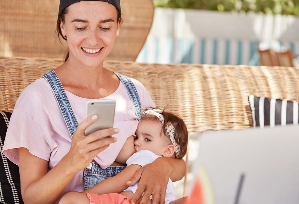 using mobile while breastfeeding