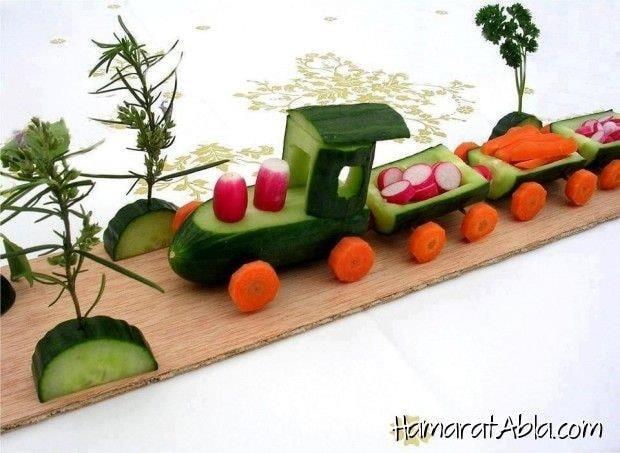 veggies train