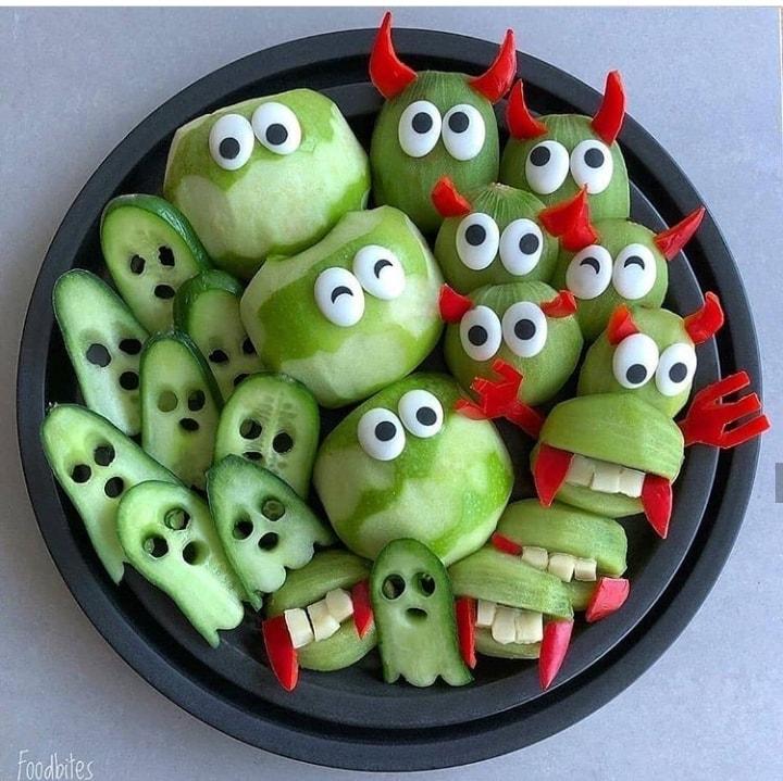 green fruit plate
