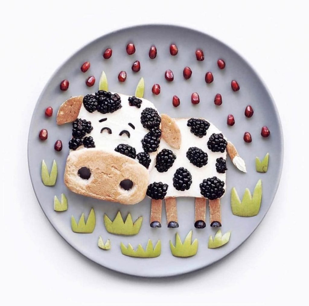 fruit art - make a cow