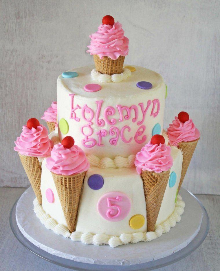 ice cream cornet cake