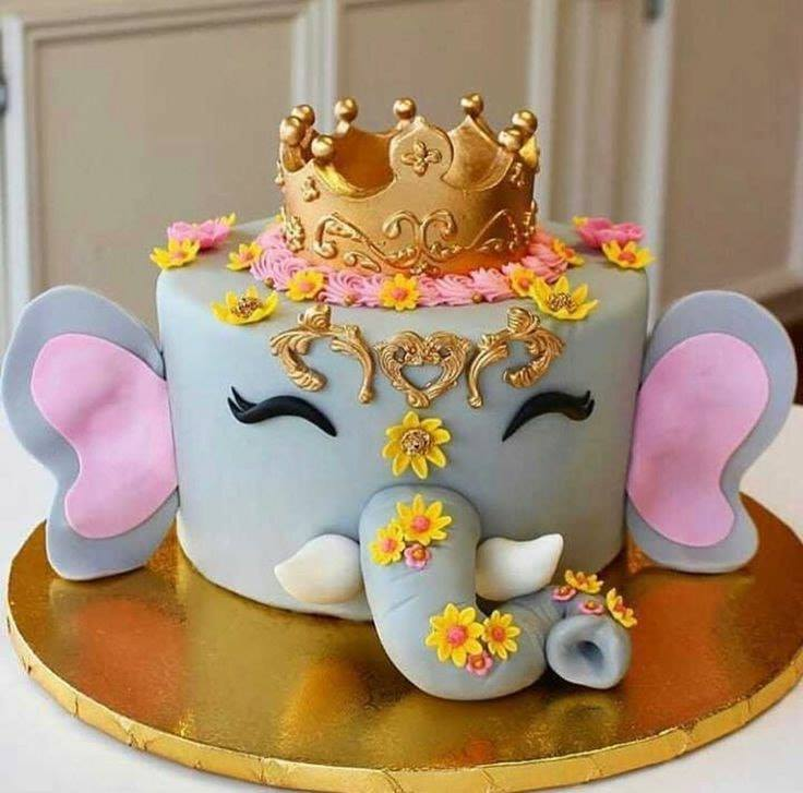elephant face birthday cake - sweetest cakes