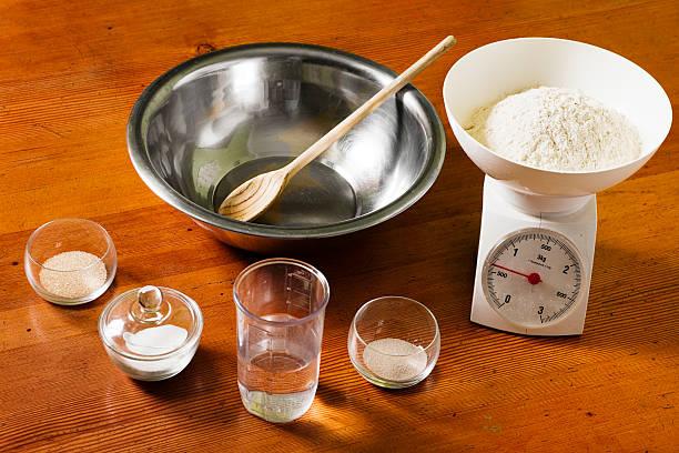 salt and yeast to prepare crusty bread